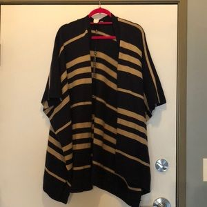 Gap poncho striped sweater